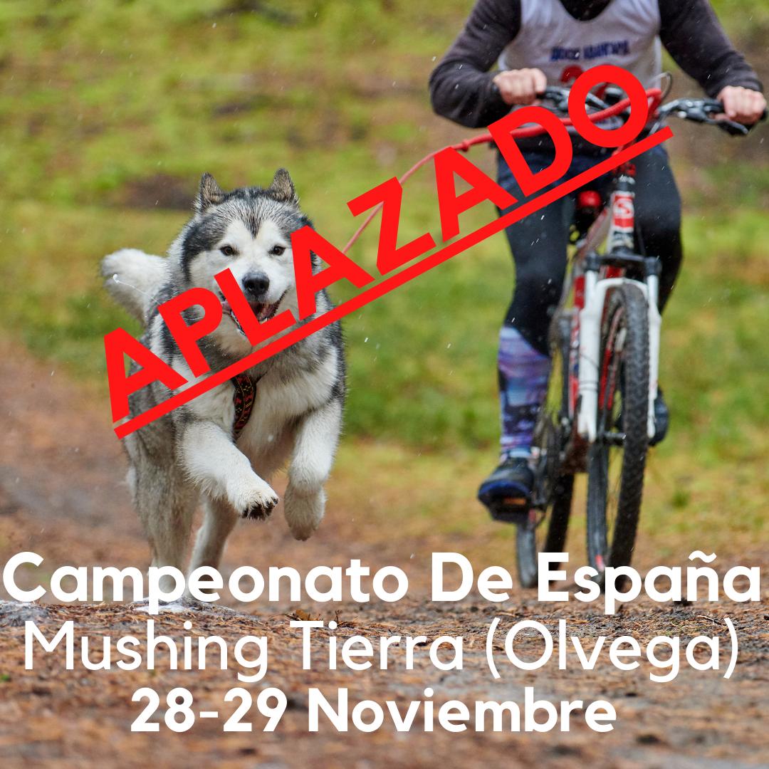 SE APLAZA EL CAMPEONATO DE ESPAÑA DE MUSHING TIERRA (OLVEGA 28-29 NOVIEMBRE 2020)