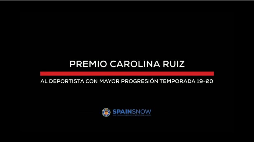 ÁLVARO ROMERO PREMIO «CAROLINA RUÍZ» AL DEPORTISTA CON MAYOR PROYECCIÓN DE LA TEMPORADA 2019/20